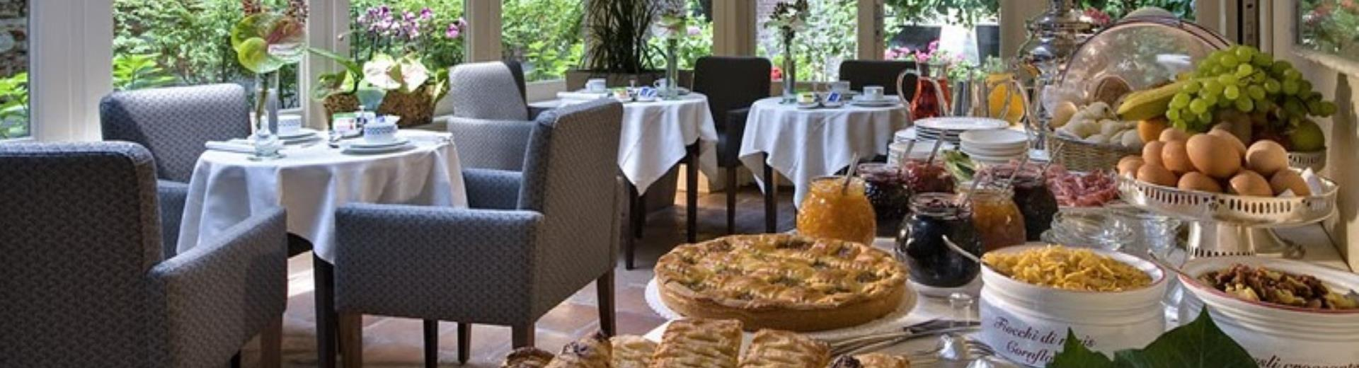 The breakfast room at the Best Western Hotel Piemontese Bergamo
